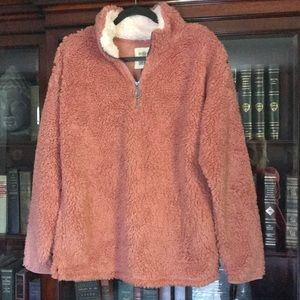 NWT SO Juniors Softest Sherpa 1/4 Zip Pullover